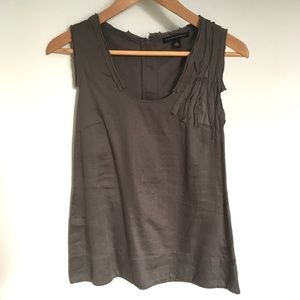 Banana Republic Gray Scoop Neck Cotton Tank